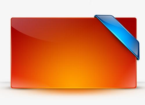 橙色立体质感边框