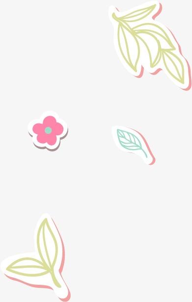 卡通清新树叶小花