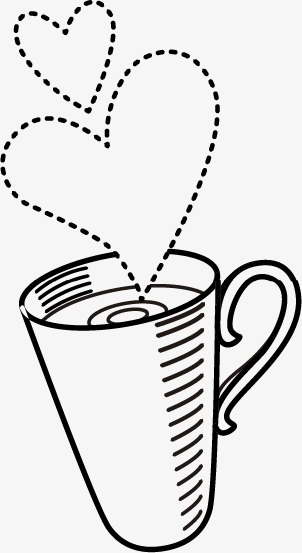 茶杯简笔画矢量图