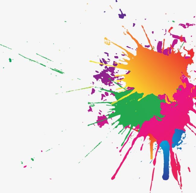 彩色水墨元素模板下载(图片编号:14588918)