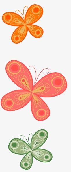 手绘粉色桃花桃树枝