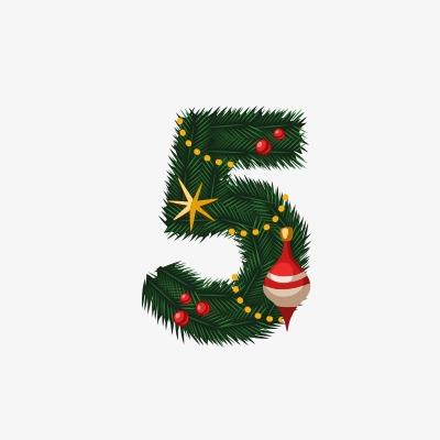 设计元素 节日素材 元旦丨春节丨元宵 > 圣诞节数字5  [版权图片] 找