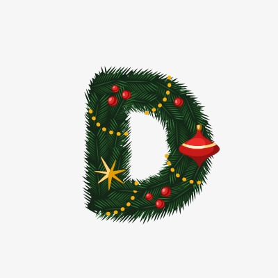 设计元素 节日素材 元旦丨春节丨元宵 > 圣诞节字母d  [版权图片] 找