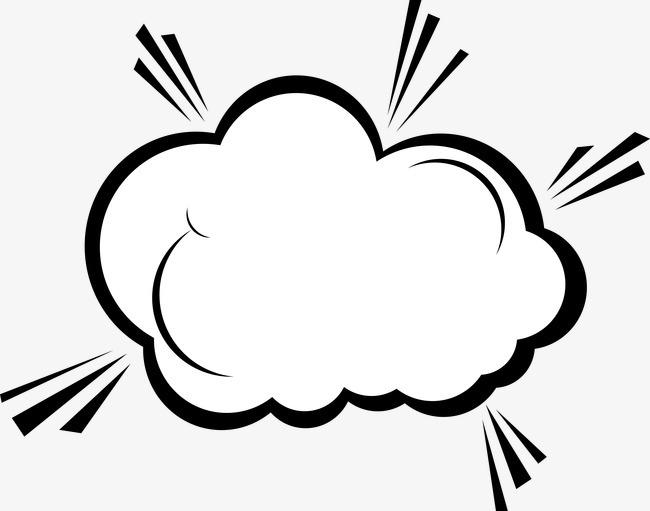 涂鸦卡通素材 卡通手绘爆炸云对话框