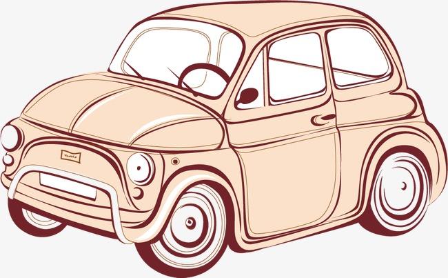 卡通手绘汽车