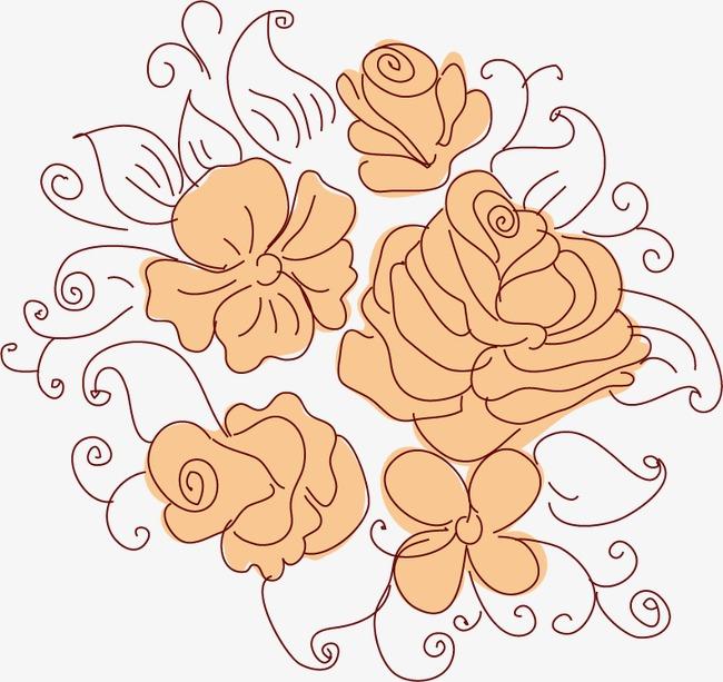 卡通手绘花