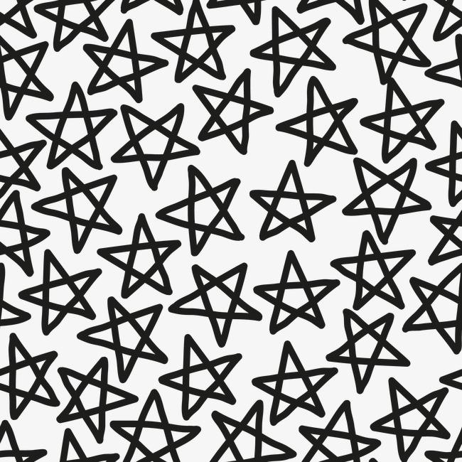花纹背景镂空花纹 卡通手绘星星底纹