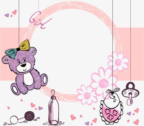 卡通可爱手绘小熊