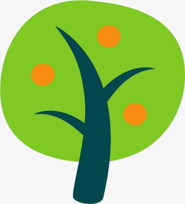 简单漫画小树素材矢量图
