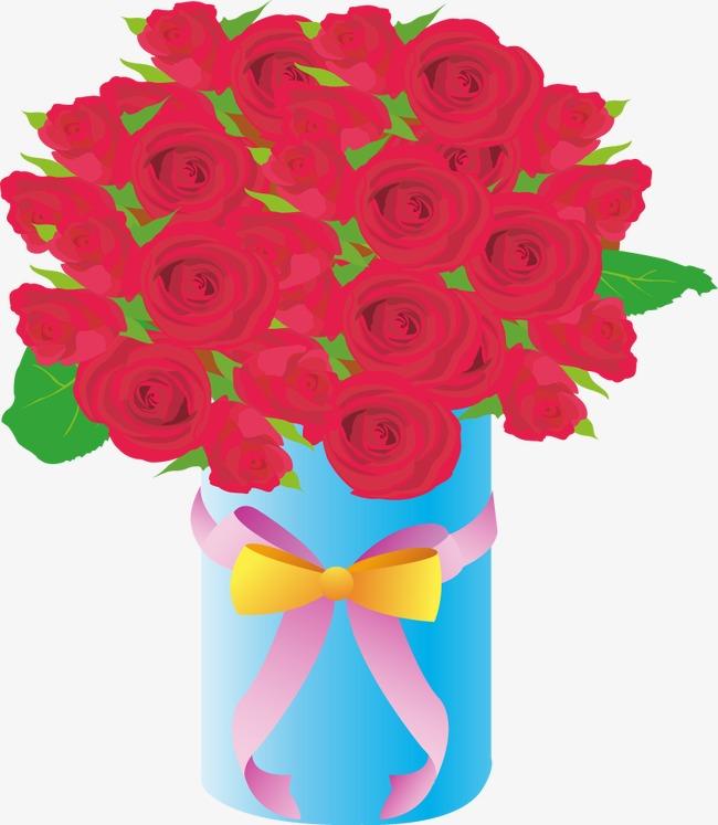 精美玫瑰花手绘底纹