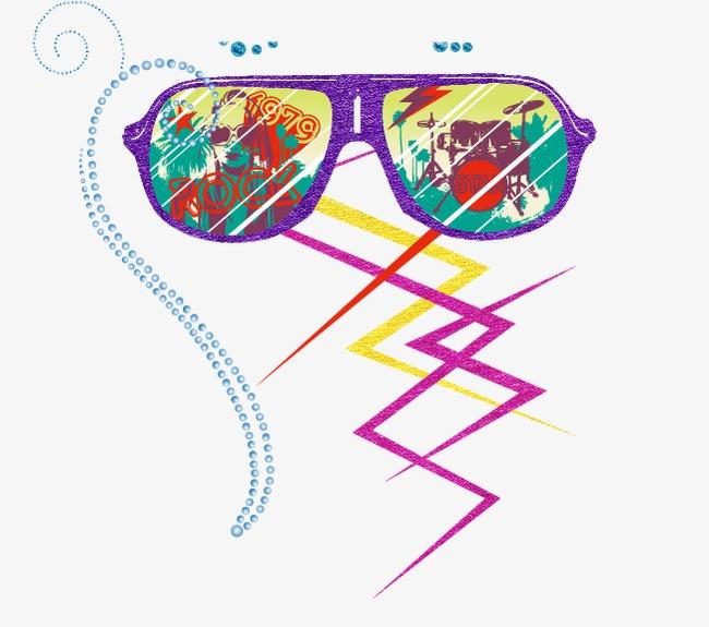 国外四眼镜风筝图案