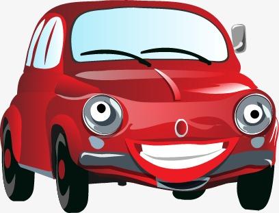 卡通红色可爱汽车