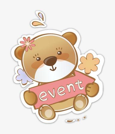卡通可爱小熊模板下载(图片编号:14591487)_装饰图案