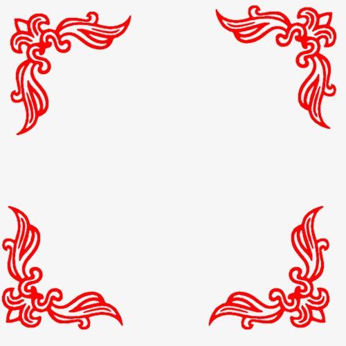 红色边框图案模板下载(图片编号:14591897)