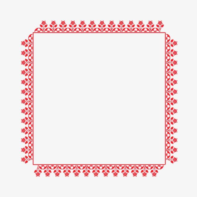 红色边框图案模板下载(图片编号:14592151)