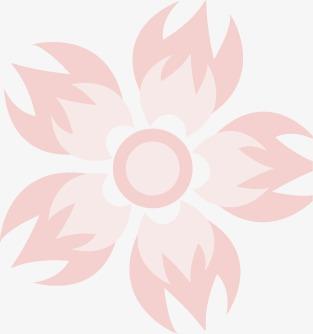 卡通手绘粉色小花