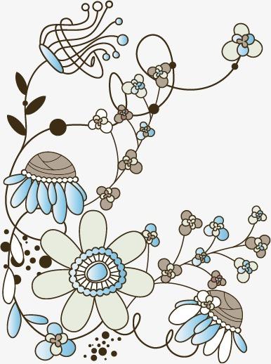 卡通手绘花枝花
