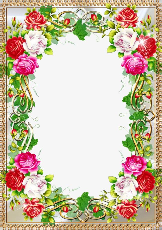 花样相框图片图片下载边框相框底纹边框花叶子边框