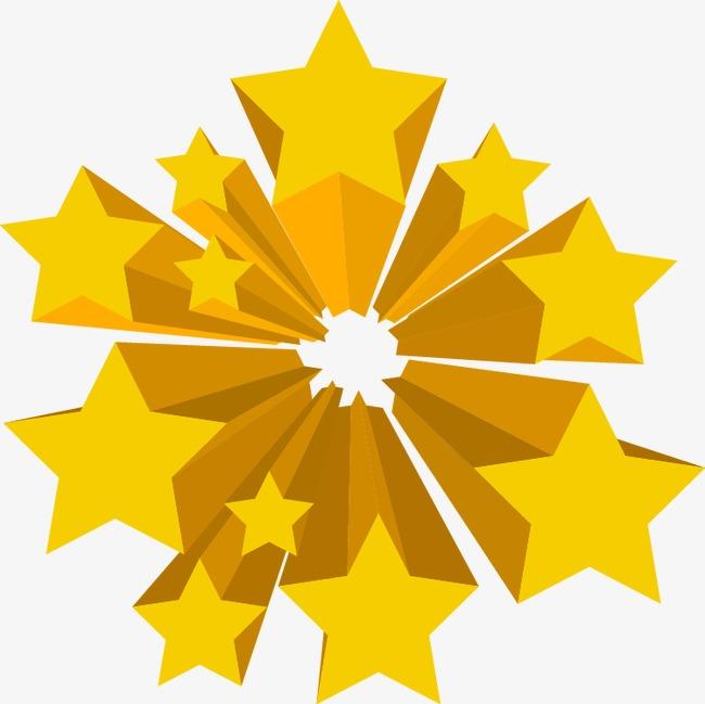 立体五角星 五角星 星星 抽象图片