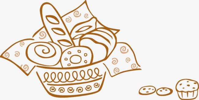 手绘面包糕点模板下载(图片编号:14593958)