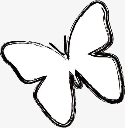 蝴蝶简笔画图片大全可爱