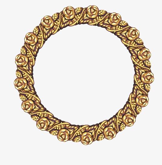金色空心圆圈素材