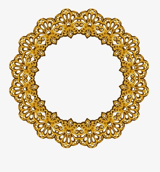 欧式金色圆环