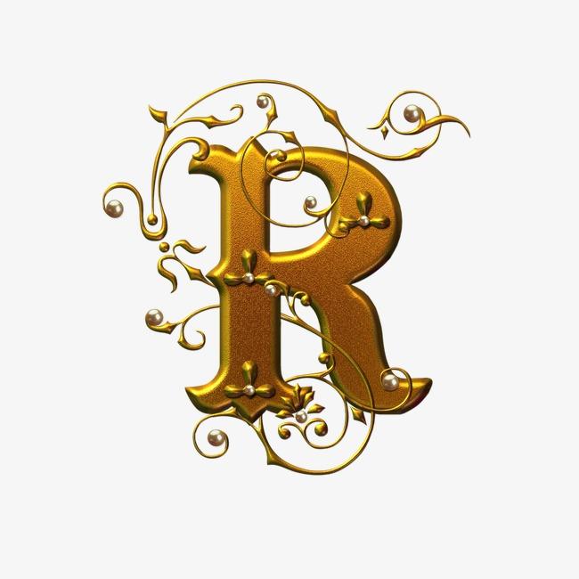 金色字母r模板下载(图片编号:14594363)