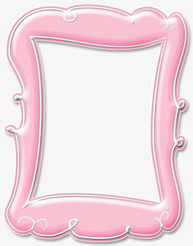 手绘粉色相框素材图片免费下载_高清边框纹理png_千库