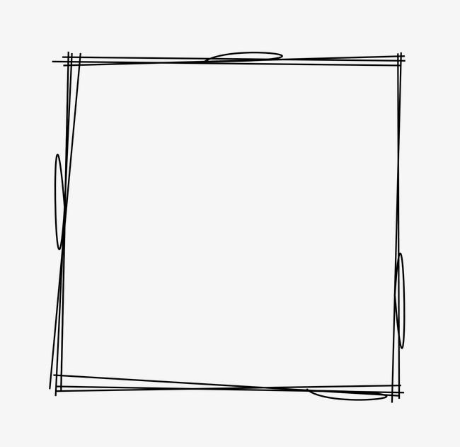 边框图标边框图片素材 卡通可爱手绘线条方形边框