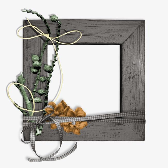 边框素材手绘图片 木质相框方框