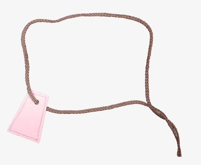 千库网 图片素材 书签素材 手绘素材相框卡通 线绳 卡片