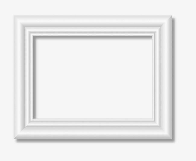 白色立体欧式相框【高清边框纹理png素材】-90设计