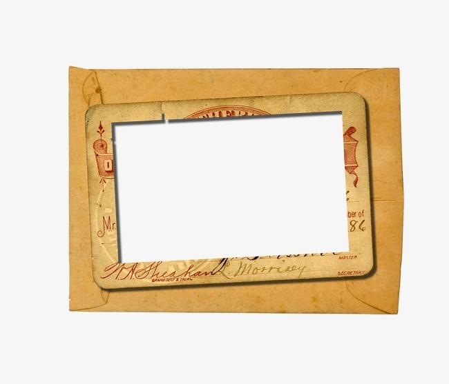 素描手绘边框素材 牛皮纸相框