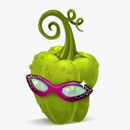 卡通食物图片食物 卡通可爱青辣椒素材图片免费下载 高清装饰图案png 千库网 图片编号45198