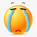 滑稽表情卡通 哭泣表情图片
