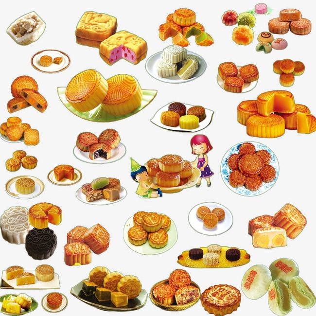 卡通3d月饼图片手绘食物 中秋节月饼