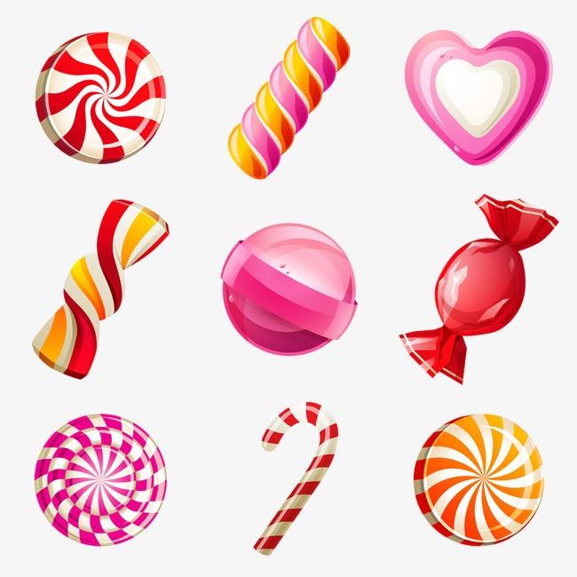 卡通食物图片手绘3d糖果