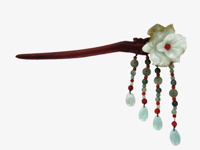 装饰矢量图手绘古风装饰图片 古代玉石簪子