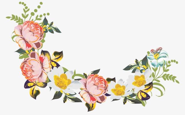 卡通鲜花花束图片 卡通手绘花束