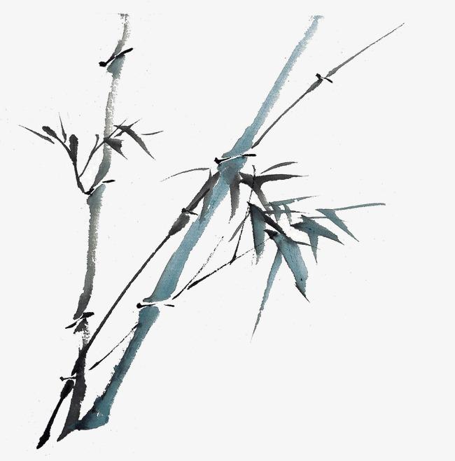 竹子矢量图手绘竹子素材 中国画