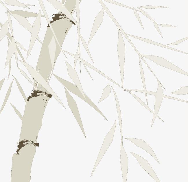 竹子素描手绘素材