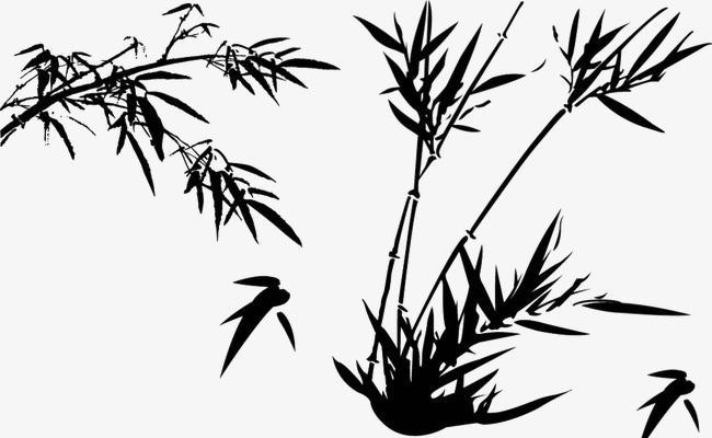 竹叶矢量图竹子矢量图 中国风手绘竹子竹叶