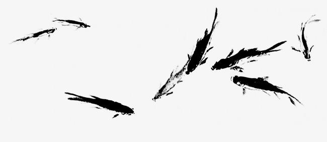 古典剪影 中国风鱼群素材图片免费下载_高清装饰图案