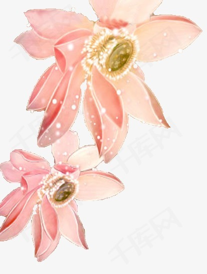 卡通中国风图片中国风图案 唯美花朵粉色素材图片免费下载 高清装饰图案png 千库网 图片编号61524图片