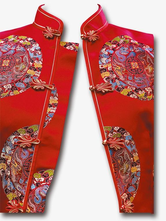 手绘中国风素材古典卡通 中国风新娘礼服