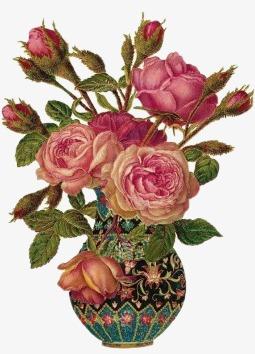 手绘花仙境 唯美花束花枝花瓶