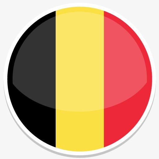 比利时平圆世界国旗图标集图片