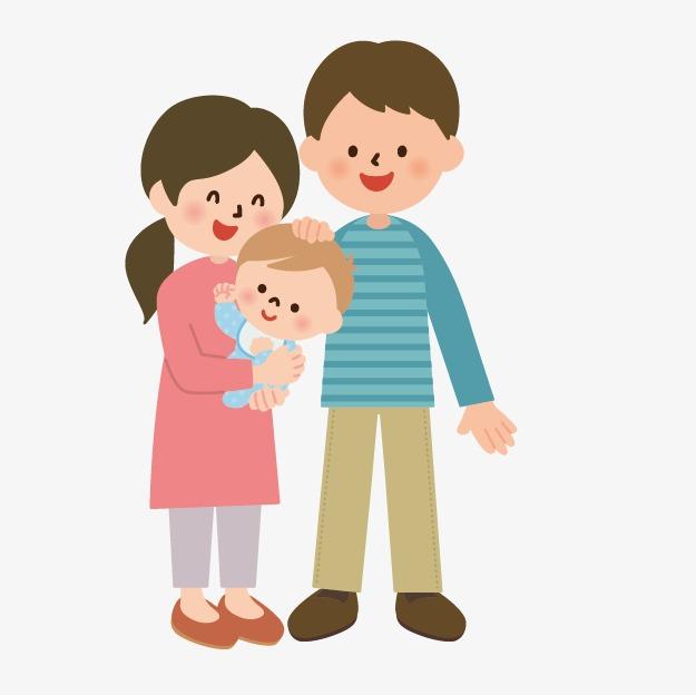 一家人 爸爸妈妈孩子 亲情 亲人 温馨 父亲 父亲节 父亲节卡通 父亲节图片