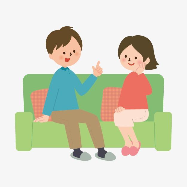 白领手绘人物素材 坐在沙发上玩耍的小孩